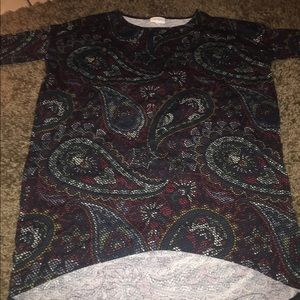 Paisley high low blouse xxs like new
